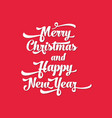 white text on a red background merry christmas vector image vector image