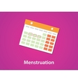 women menstruation calendar with red or pink vector image