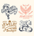 women s jewelry badges and logo for shop luxury vector image