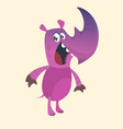 cartoon rhino character funny vector image