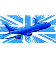 a passenger plane flying vector image vector image