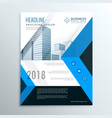 a4 blue annual report brochure flyer design vector image vector image