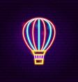 air balloon neon label vector image