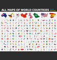 all maps world countries and flags