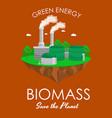 alternative energy power industry biomass power vector image