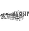 anxiety in dogs text word cloud concept vector image vector image