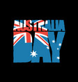 australia day patriotic holiday australian flag vector image vector image