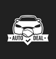 auto deal - logo for car dealership isolated on vector image vector image