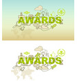 awards abstract background design concept vector image vector image