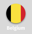belgium flag round icon vector image