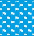 black flag pattern seamless blue vector image vector image