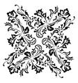 Black floral swirling ornament vector image vector image