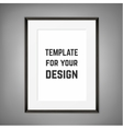 Blank framed poster on a wall template vector image vector image