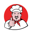 chef cook baker thumbs up vector image vector image