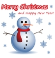 Christmas and New Year postcard with a Snowman vector image vector image