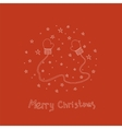 Christmas card with hand drawn mittens and text vector image