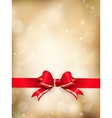 Christmas decoration - Red ribbon EPS 10 vector image vector image