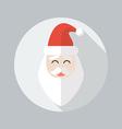 Christmas Flat Icon Santa claus vector image