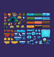 collection of summer and winter fantasy landscape vector image vector image