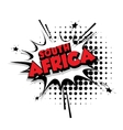 Comic text South Africa sound effects pop art vector image vector image