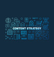 content strategy blue linear horizontal vector image vector image