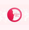 creative design of happy womens day celebration vector image