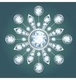 Diamond brooch vector image vector image