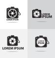 dslr camera logo vector image