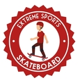extreme sports skateboard design isolated vector image vector image