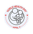 family icon world health vector image vector image
