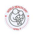 family icon world health vector image