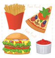 fast food meal vector image