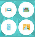 flat icon frame set of glass frame clean cloud vector image vector image