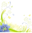 Floral summer background with blue snow drop vector image vector image