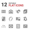 gallery icons vector image vector image