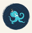gentleman octopus vector image