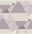 geometric striped pattern in dust rosy colors vector image vector image