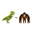 Godzilla vs King Kong Battle monsters Big wild vector image vector image