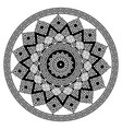 greek round mandala pattern black and white vector image vector image