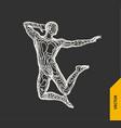 gymnast 3d human body model gymnastics activities vector image vector image