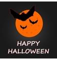 Hallaween bat to moon poster vector image