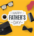 happy fathers day background best dad vector image