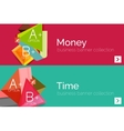 Infographic flat design banner with geometric vector image vector image