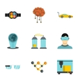 Innovation icons set flat style vector image vector image