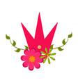 isolated crown and flower icon vector image vector image