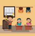 kids students at classroom vector image vector image