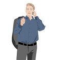 man talking on the phone vector image vector image