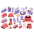 mars colonization icons collection vector image vector image