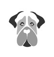 mastiff dog icon vector image vector image