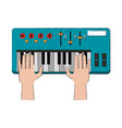 music keyboard isolated vector image vector image